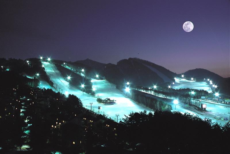 2006.07.07 2014년 평창동계올림픽사진공모전 -대상- '월하의 스키장' 1,000만원.JPG