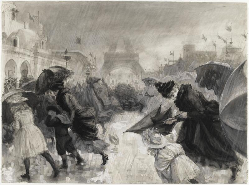 폴 르누아르- 1900년 만국박람회장을 찾은 방문객들.jpg